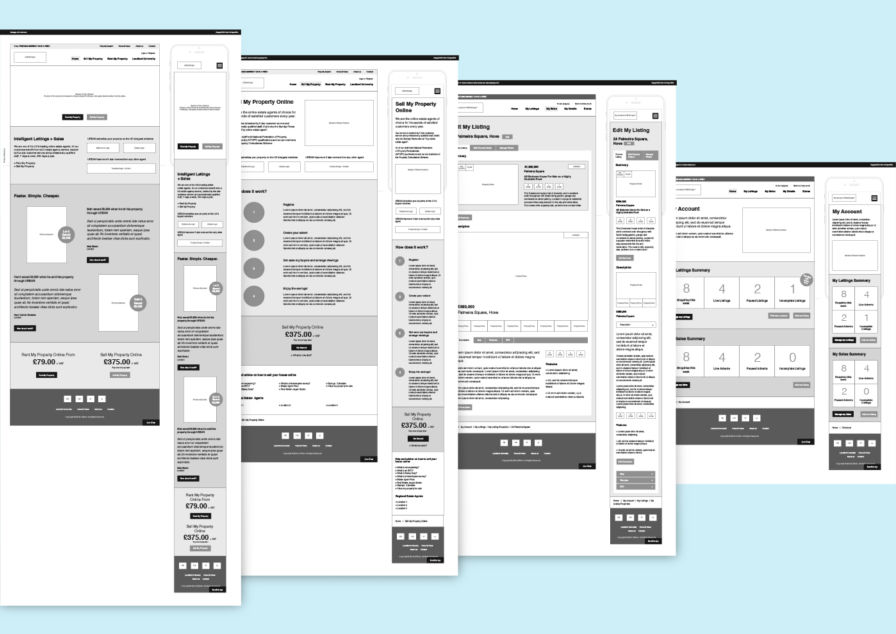 Image for Urban.co.uk wireframes